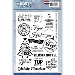 Clear stamp tekst Frosty Ornaments NL p/st