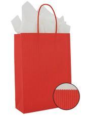 Draagtas 14x7x19cm rood p/250st papier gedraaid