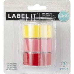 Emboss Tape Rolls breed 1.9 x 297 cm inhoud 3 stuks geel/roze/rood