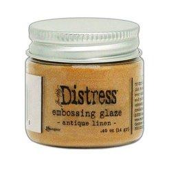 Embossing Antique Linen p/st glaze