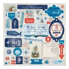 Stickers Seafarer 30 x 30 cm per set