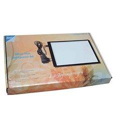 Ultradun lichtpaneel mm-maatverdeling + usbsstekker A4 per tuk