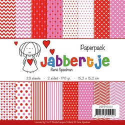 Paper pad Jabbertje 15x15cm p/set