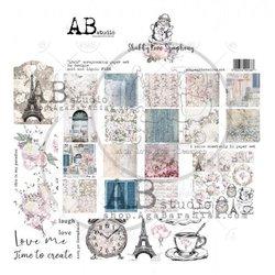 Paper pad 30.5x30.5cm Shabby love Symphony p/9vel