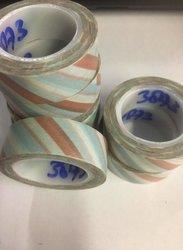 Masking tape 15mm p/10m goud/lichtblauw