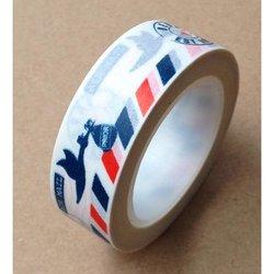 Masking tape airmail met ooievaar 15mm p/10m wit