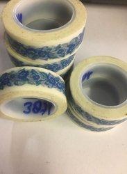 Masking tape bloem 15mm p/10m blauw