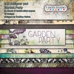 Paper pad Garden Party 15x15cm p/24vel