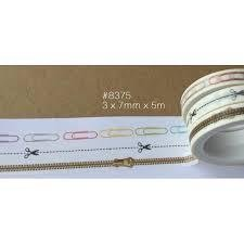 Masking tape 3 rollen paperclip rits 7mm p/5m wit