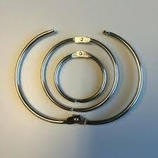 Boekbindersringen 23mm p/12st zilver