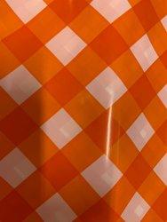 Draagtas oranje 45x8x51cm p/50st plastic ruit