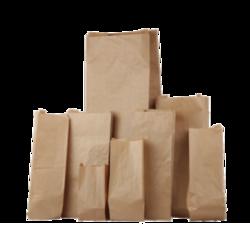 Zakken bruin suikerzak 20x10x50cm p/10st