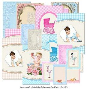 Ephemera cards lullaby  inhoud 12 stuks