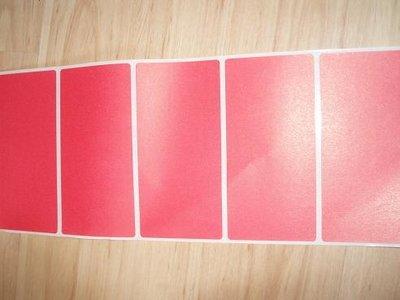Etiket 50 x 100 mm inhoud 100 stuks rood