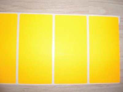 Etiket 50 x 100 mm inhoud 100 stuks geel