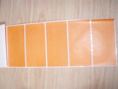 Etiket 50 x 100 mm inhoud 100 stuks oranje