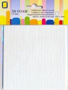 Foam dots 1.5x5x5mm p/400st wit