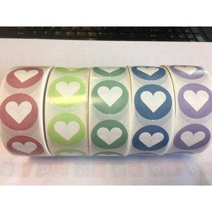 HART Stickers  30 mm inhoud 20 stuks oudroze