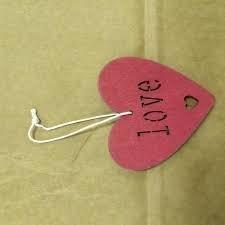 Hanger kerst hart met love 9cm p/st rood