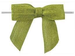 Jute strikken 8 x 6 cm per stuk groen