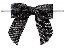 Jute strikken 8 x 6 cm per stuk zwart