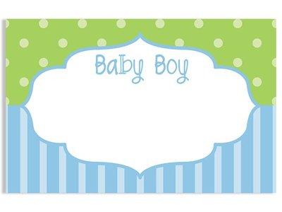 Kadolabels Baby kader jongen 5.7 x 8.9 cm inhoud 5 stuks