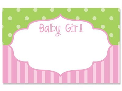 Kadolabels Baby kader meisje 5.7 x 8.9 cm inhoud 5 stuks