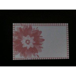 Kadolabels bloem 5.7 x 8.9 cm inhoud 5 stuks roze