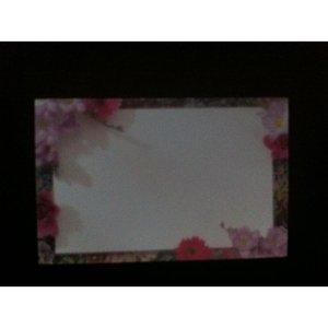 Kadolabels bloemenrand 5.7 x 8.9 cm inhoud 5 stuks