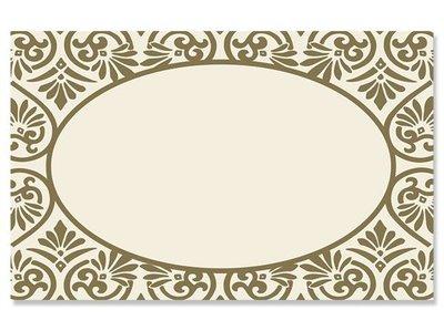 Kadolabels elegant ovaal 5.7 x 8.9 cm inhoud 5 stuks goud