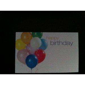 Kadolabels Happy Birthday balloons 5.7 x 8.9 cm inhoud 5 stuks
