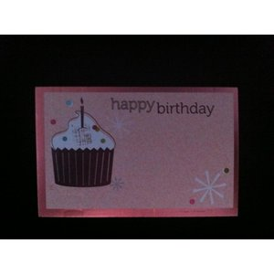 Kadolabels Happy Birthday Cupcake 5.7 x 8.9 cm inhoud 5 stuks