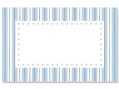 Kadolabels kader streep 5.7 x 8.9 cm inhoud 5 stuks blauw