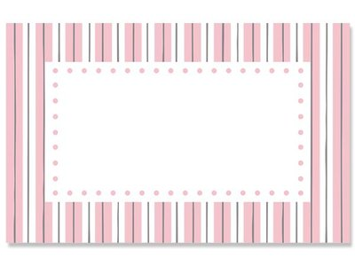 Kadolabels kader streep 5.7 x 8.9 cm inhoud 5 stuks roze
