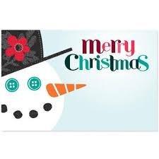 Kadolabels Kerst Sneeuwpop 5.7 x 8.9 cm inhoud 5 stuks