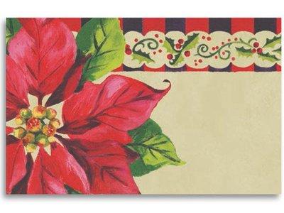 Kadolabels kerstster 5.7 x 8.9 cm inhoud 5 stuks