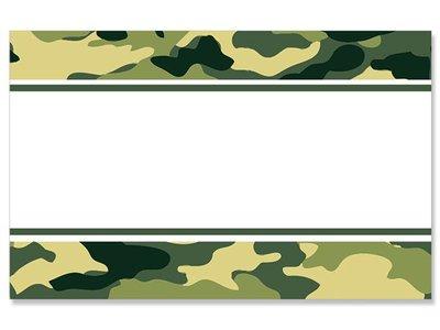 Kadolabels rand 5.7 x 8.9 cm inhoud 5 stuks legergroen