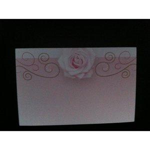Kadolabels roos 5.7 x 8.9 cm inhoud 5 stuks roze