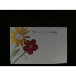 Kadolabels thinking of you 5.7 x 8.9 cm inhoud 5 stuks