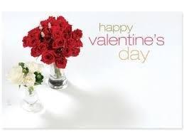 Kadolabels Valentine's day rozen 5.7 x 8.9 cm inhoud 5 stuks