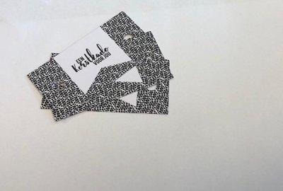 Labels wit/zwart 70x35mm p/5st papier een kerstkado voor jou