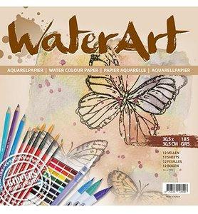 Papier 30.5x30.5cm 185gr p/12vel Aquarelblok WaterArt