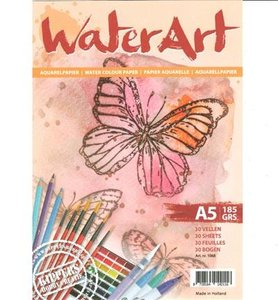 Papier A5 300gr p/20vel Aquarelblok Waterart