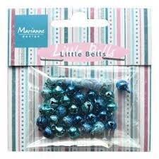 Belletjes donkerblauw/lichtblauw p/32st