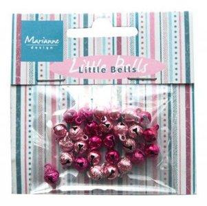 Belletjes roze/lichtroze p/32st
