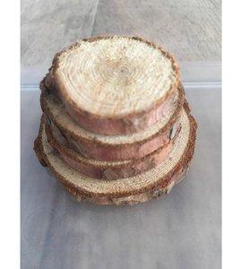 Boomstam rond hout 2 - 6 cm inhoud 4 stuks