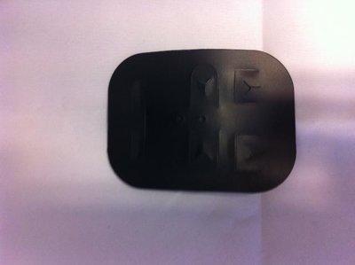 Byoux kaartjes hard plastic 70 x 50 mm inhoud 25 stuks zwart