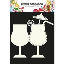 Card art Cocktail glas A5 per stuk
