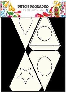 Card art Flag Shapes A5 per stuk