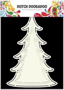 Card art kerst boom A5 per stuk